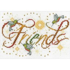 "Friends Mini Counted Cross Stitch Kit-5""X7"" 14 Count"