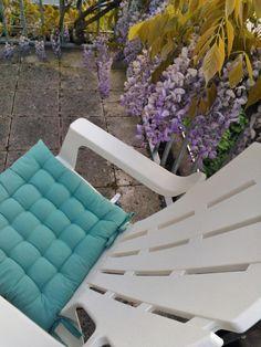 Diadoxanita #synchroonkijken 2015 dag 4, waarde: m'n nieuwe 'bearchair' voor eindeloze avonden op t balkon, kijkend naar m'n tuin