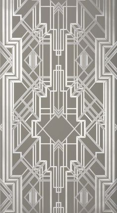 Metropolis Wallpaper Champagne 802 by Catherine Martin by Mokum
