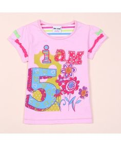 Floral Print Ruffle Short Sleeve Kids Tees With Diamond