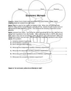 Scientific Method Worksheet | Pinterest | Scientific method ...