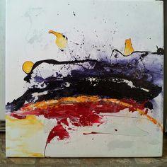 "20""x20"" acrylic & enamel on canvas.... 2014.... as below....so above"