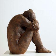 Sculptures Céramiques, Art Sculpture, Bronze Sculpture, Ceramic Sculptures, Ceramic Figures, Ceramic Art, Fantasy Kunst, Clay Figurine, Anime Kunst