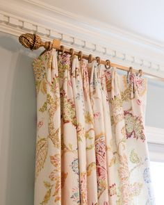 """The Antique Drapery Rod Company's 1"""" scale curtain hardware.  Design and photo by Mary Best Designs."""