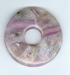 50mm LightPurple Fluorite PI Donut Pendant 0127 by RockNBeads (Craft Supplies & Tools, Jewelry & Beading Supplies, Beads, Donut & Ring Beads, Gemstone, Donut, Pendant, Bead, pi donut, pcfteam, 50mm, 50mm donut, 50mm fluorite donut, gemstone donut, light purple donut, light fluorite)