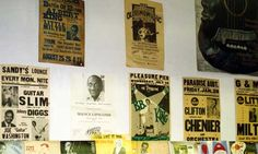 Old Concert Posters Displayed on Walls