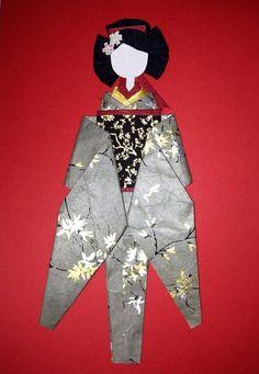 washi ningyo muñeca papel japonés