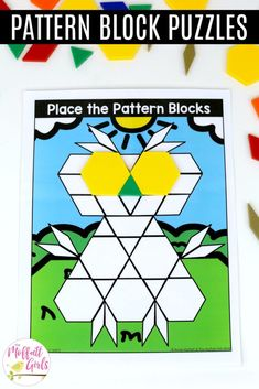 Place the Pattern Blocks with Lines: These fun Grade Math activities help students understand basic geometry with the use of shapes and fractions in a hands-on way! 1st Grade Math, First Grade, Grade 1, Core Learning, Basic Geometry, Teacher Resources, Teaching Ideas, Primary Maths, Stem Challenges