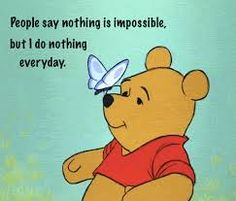 In celebration of Winnie the Pooh author A. Milne's birthday, Jan. 18 is officially National Winnie the Pooh Day. And what better way to celebrate Winnie, Eey Winnie The Pooh Quotes, Disney Winnie The Pooh, Eeyore Quotes, Gifs, Tweety, Citations Film, How Lucky Am I, Pooh Bear, Tigger