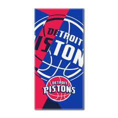 """Pistons National Basketball League, """"""""Puzzle"""""""" 34""""""""x 72"""""""" Over-sized Beach Towel"""