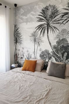 Awesome Deco Chambre Tapisserie that you must know, You?re in good company if you?re looking for Deco Chambre Tapisserie Home Bedroom, Bedroom Decor, Bedroom Ideas, Bedrooms, Wallpaper Headboard, Casa Milano, Ideas Hogar, Inspirational Wallpapers, Head Boards