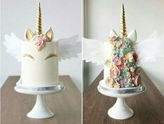 "5,886 Likes, 83 Comments - AmourDuCake (@amourducake) on Instagram: ""Angel unicorn cake  by @foretblanc I love unicorn cake, its my favourite cake. This hair is so…"""