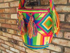 One of the handmade mochillas from Buena Onda's Taste of the Tropics Collection 2014. Click to purchase direct from the Etsy Store!