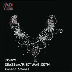 New Hotfix Rhinestone Iron On Heat Transfers Sticker Hot V-Neck Neckline Pattern T-shirt Cashmere Accessories