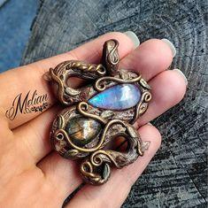 serpent necklace protection-amulet moonstone necklace pendant giftidea labradorite necklace