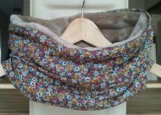 Snood polaire doudou doux et viscose style liberty : Echarpe, foulard, cravate par justinfil