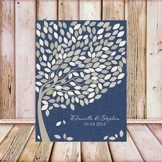 Wedding Guest Book Tree Print Wedding by TheFreckledOwlPrints, $48.00