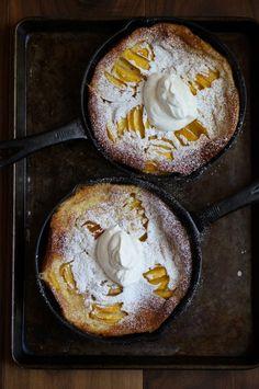 Peach Clafoutis & Vanilla Creme Fraiche