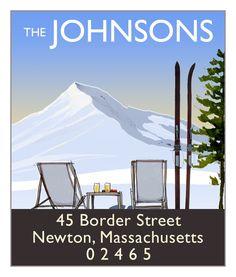 Mountain View   Return Address Labels by Felix Doolittle