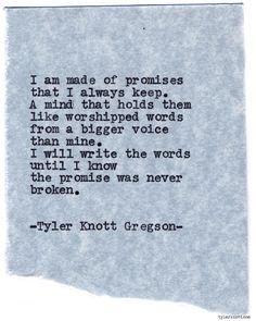Typewriter Series #793byTyler Knott Gregson