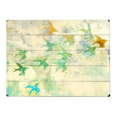 Flock of Color Wall Art - pretty in a room with beach colors