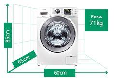 Lava e Seca Samsung WD106UHSAWQ | Peso: 71kg | Altura: 85cm | Largura: 60cm | Profundidade: 65cm