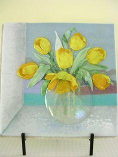 Yellow Tulip Window - Delphi Artist Gallery