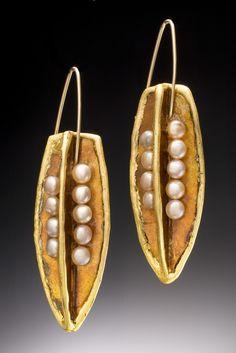 Mica pod earrings