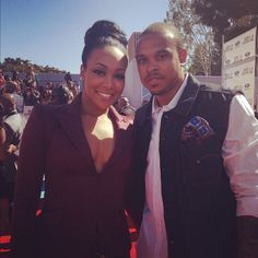 Monica and husband Shannon Brown on the #BETAWARDS #redcarpet!