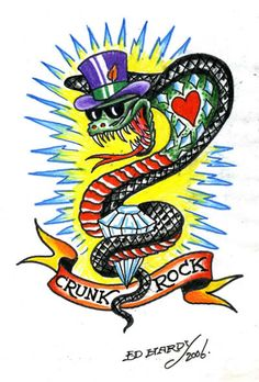 am about to do I few in this style, My Tribute to the Don Ed Hardy