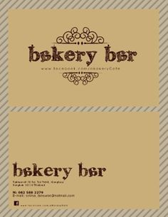 Name Card of Bakery Bar