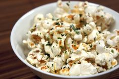 Hurricane Popcorn :  a ridiculously addictive Asian-fusion snack from Hawaii - hot buttery popcorn, toasted sesame seeds, crisp bits of roasted seaweed and a bit of sugar | chinese grandma