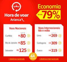 Hora de voar AVIANCA até 79% de economia! :: Jacytan Melo Passagens