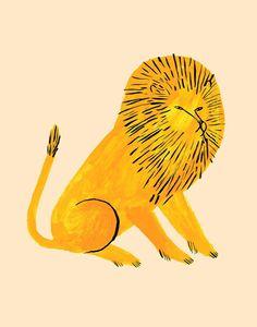 """""""Gold Lion"""" by Jen Collins"""