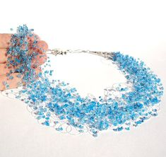 Wedding Necklace Something Blue Dreamy Airy by LikeinaFairyTale, $60.00