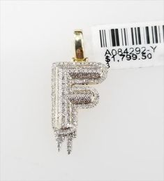 Yellow Gold Dripping Bubble Letter Initial F Iced Out Diamond Pendant Charm. RG&D is a unique collection of Wedding Rings, Engagement Rings, Fashion Rings, Gold Chains, Pendants and jewelry for men. Round Pendant, Diamond Pendant, Diamond Earrings, Bubble Letters, Diamond Stone, Gemstone Colors, Gold Chains, Fashion Rings, Gold Jewelry