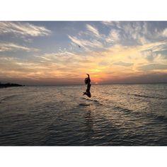 Beautiful Sunset from Playa del Carmen.