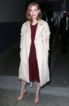 Jessica Chastain appears on 'The Late Show with Stephen Colbert' Eleanor Rigby, Jessica Chastain, International Film Festival, Photo L, Celebs, Celebrities, Denim Fashion, Front Row, Style Icons