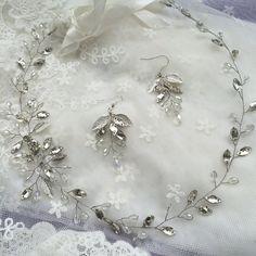Tiara de novia diadema con cristales novia vid por EoliBridal