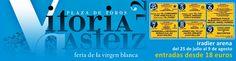 Desde 18 euros, puedes acudir a la feria de Vitoria. Ponce, Castella, Perera, Cordobés, Fandi, Padilla, Fandiño... http://www.toroticket.com/142-entradas-toros-vitoria