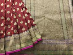 Handwoven tanchoi silk saree from Banarasi Bunkar