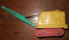 1950's Auburn rubber crane Toy #auburnrubber