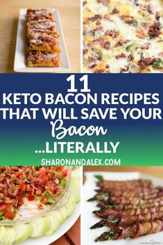 If you love bacon, you're gonna love these bacon keto recipes. Here are 11 keto bacon recipes that will make you forget you're on a diet. Bacon Recipes, Low Carb Recipes, Healthy Recipes, Banting Recipes, Ketogenic Recipes, Healthy Tips, Free Recipes, Diet Plan Menu, Keto Meal Plan