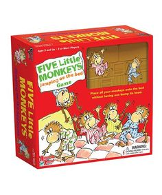 Five Little Monkeys Jumping on the Bed Board Game #zulily #zulilyfinds