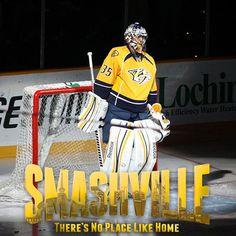 The baddest Goalie in the NHL - Pekka Rinne!  Smashville: There's No Place Like Home.  Hockey, Nashville Predators, NHL, MySmashville
