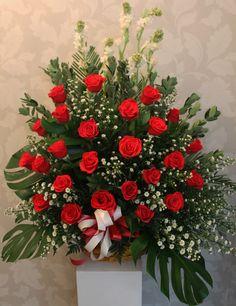 Un hermoso arreglo de rosas!
