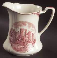 Johnson Brothers OLD BRITAIN CASTLES PINK (MADE IN CHINA) 24 Oz Pitcher 4740815 ie.picclick.com