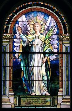 Joseph Lauber | Glory- The Church Triumphant, 1906 | Leaded glass | Evangelical Lutheran Church of the Holy Trinity, Lancaster, PA (Window post-dates Lauber's employment with Tiffany)