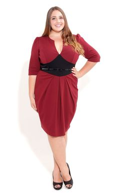 Plus Size Cute Spliced Ponte Dress - City Chic... Oooh. I loves this!