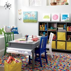 Designing A Playroom That Grows With Your Child | Create a playroom that your kids want to play in means their toys and miscellaneous items will be kept corralled instead of sprawled around a kids' room or all over the house in general.